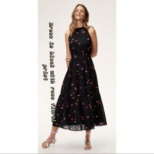 Aritzia Dresses - Wilfred Effet dress black floral print XS aritzia